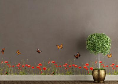 53002 Poppies & Butterflies