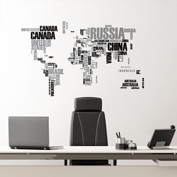 57110 Blister / 44010 Flat - World Map XL