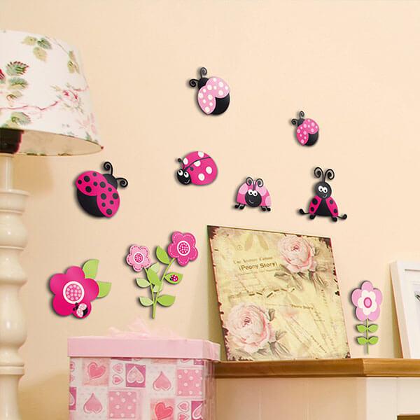 14506 Pink Ladybugs M