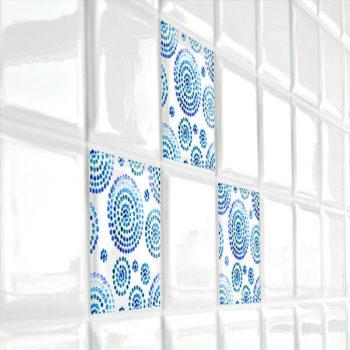 31408 Tiles Watercolor Circles M