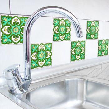 31412 Tiles Green Azulejos M