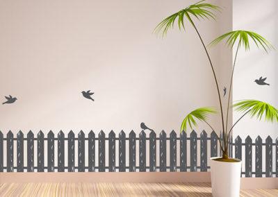 53006 Fence & Birds