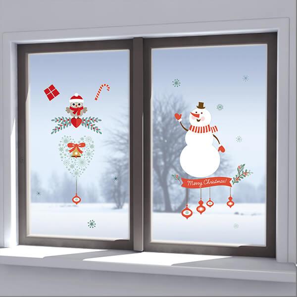 96002 Xmas Snowman Two Owl M