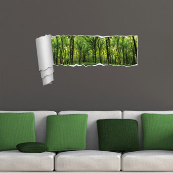 44203 Funny Panoramic Green Forest XL