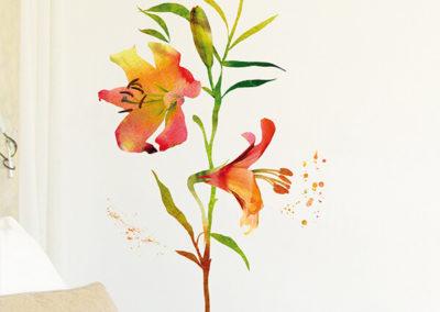 57718 Watercolour Flowers XL