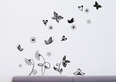 65001 Butterflies Silhouette M