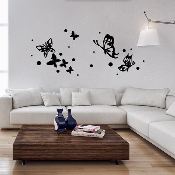 58509 Butterflies Silhouettes L