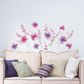 57717 Blister / 44028 Flat - Purple Flowers XL