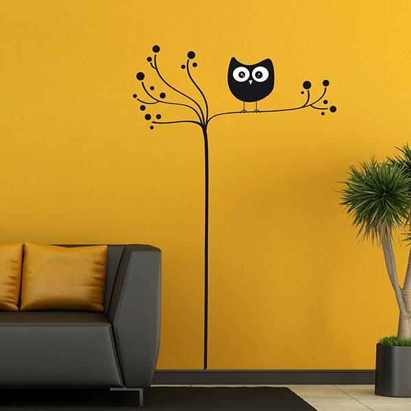 57719 Blister / 44036 Flat - Owl On Tree XL