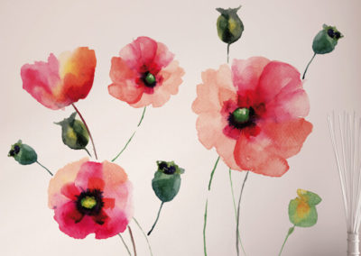 81003 Watercolour Poppies XXL