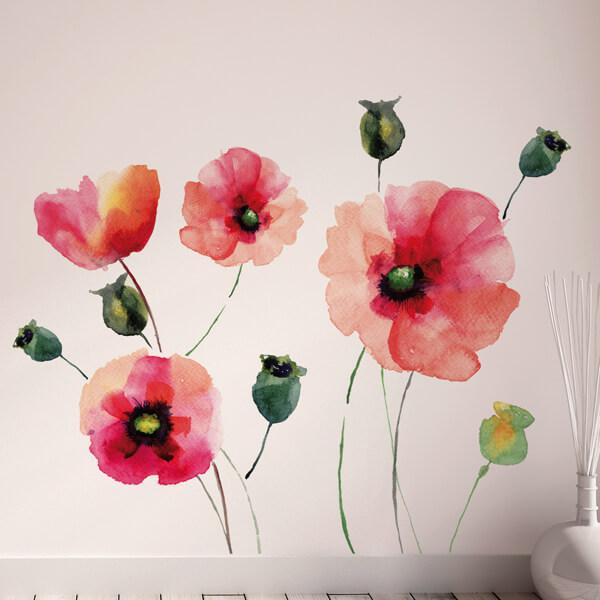 81003 Watercolour Poppies XXL