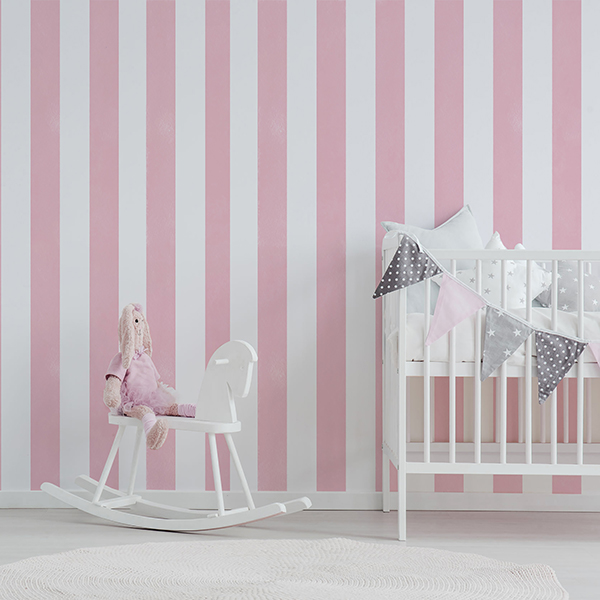 Rocking horse next to bed