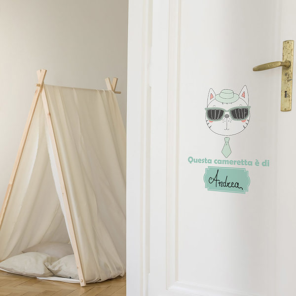 Stylish kids playroom with white tent, teddy bear, macrame on th